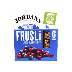 Jordan Bluberry Frusli Bar 6 X36 Gm 6x36gm