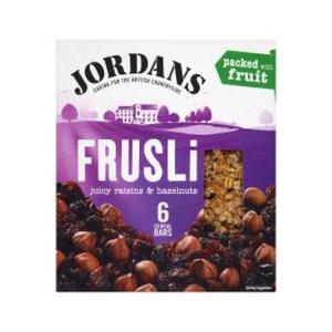 Jordan Raisin & Hazelnut Frusli Bar 6 X36 Gm 6x36gm