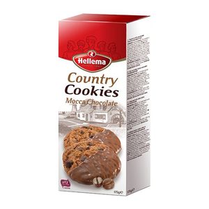 Hellema Cookies mocca chocolate 175g