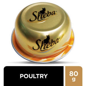 Sheba Dome Fine Cuts with Poultry Wet Cat Food Can 80g