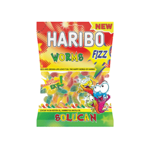 Haribo  Worms Fizz 160g