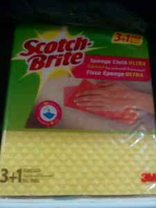 Scotch Brite Ultra Sponge Cloth 4pc