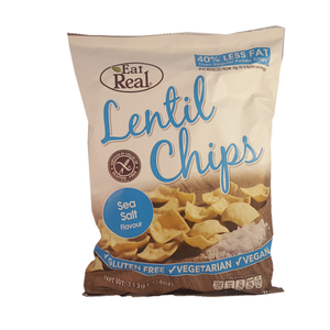 Eat Real Lentil Chips Sea Salt Chips 113g