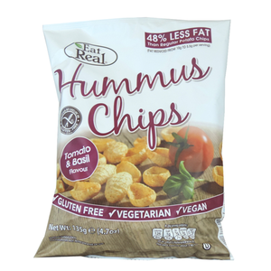 Eat Real Humus Tomato And Basil Chips 135g