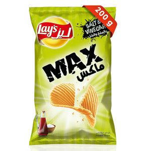 Lays Max Salt And Vinegar Chips 200g