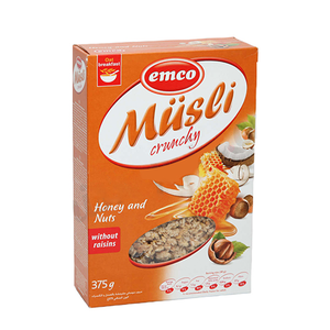 Emco Crncy Musil W/Honey&Nuts 3 375gm