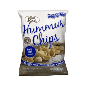Eat Real Hummus Chips Sea Salt Gluten Free 135g