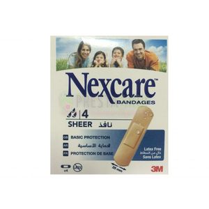 Nexcare Sheer Bandages 4s