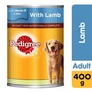 Pedigree Lamb Wet Dog Food Can 400g