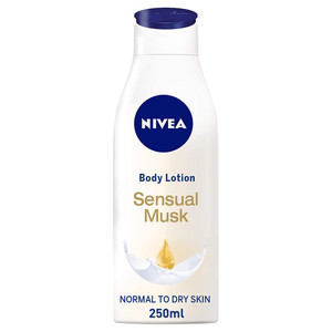 Nivea Sensual Musk Body Lotion Musk Scent Normal To Dry Skin 250ml