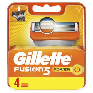 Gillette Fusion Power Men's Razor Blade Refills 4s