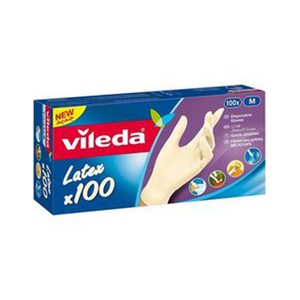 Vileda Disposable Gloves Medium 100pc