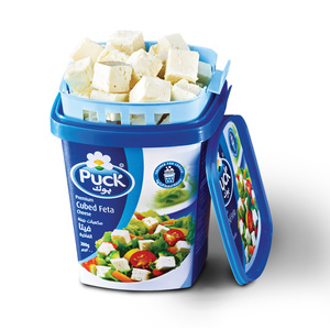 Puck Premium Cubed Feta Cheese Bucket 200g