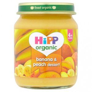 Hipp Organic Banana & Peach Baby Food (6+ Months) No Added Sugar Gluten Free 125g