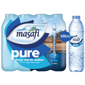 Masafi Pure Natural Water Low Sodium Shrink Wrap 12x500ml