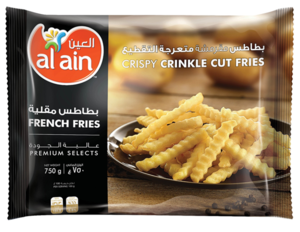 Al Ain French Fries Crinckle Cut 750g