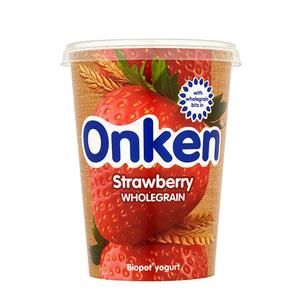 Onken Yoghurt Wholegrain Strawberry 500g