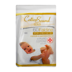 Cotton Sound Cotton Rectangular Pads For Baby Biodegradable 60pc