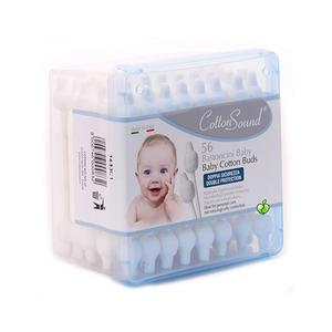 Cotton Sound White Cotton Swabs Baby Square Box Biodegradable 60pc