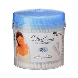 Cotton Sound Swabs Round Pot 200pc