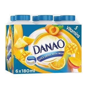 Danao 5 Vitamins Juice Drink With Milk 6x180ml