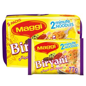 Maggi 2 Minutes Noodles Biryani 5x77g