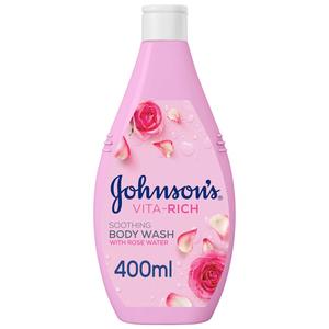 Johnson's Body Wash Vita-Rich Soothing Rose Water 400ml