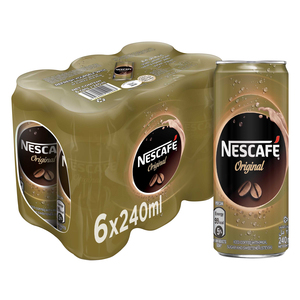 Nescafe Ready To Drink Original Chilled Coffee Can 6x240ml
