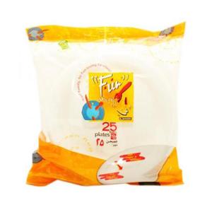 Fun Foam Plate Wht 10 In 25s