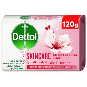 Dettol Skincare Anti-Bacterial Rose & Blossom Bar Soap 120g