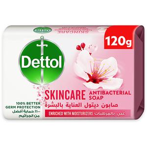 Dettol Skincare Anti-Bacterial Bathing Soap Bar Rose & Sakura Blossom Fragrance 120g