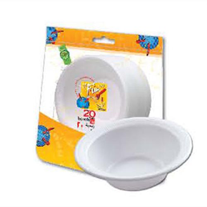 Fun Foam Bowl White 20s