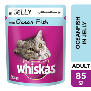 Whiskas In Jelly With Ocean Fish Wet Cat Food Pouch 85g
