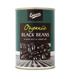 Epicure Organic Black Beans 400g