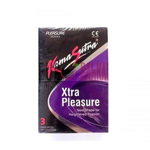 Kamasutra Xtra Pleasure Condoms 3pc