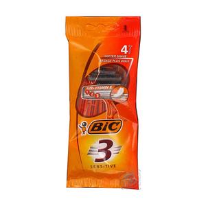 Bic 3 Sensitive Disposable Razors 4pc