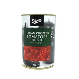 Epicure Italian Chopped Tomatoes W/ Basil 400g