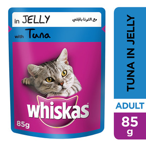 Whiskas In Jelly With Tuna Wet Cat Food Pouch 85g