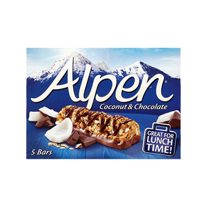 Alpen Cereal Bars Coconut & Chocolate 145g
