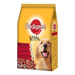 Pedigree Beef & Vegetables Dry Dog Food Adult 3kg
