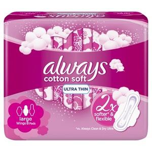 Always Ultra Cotton Soft Long Sanitary Pads 8pcs