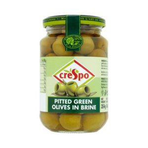 Crespo Pitted Green Olives 440g