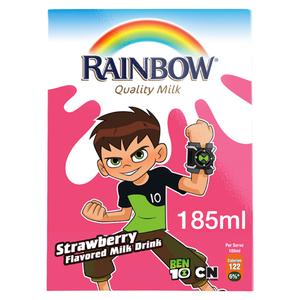 Rainbow UHT Milk Strawberry 185ml