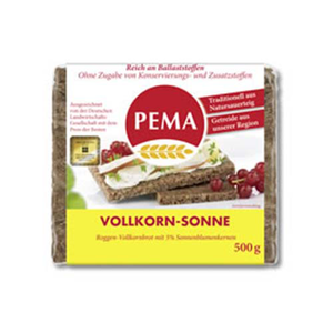 Pema Whole Grain Rye Bread 500g