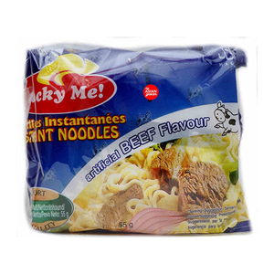 Lucky Me Noodles Beef Flavour 6x55gm
