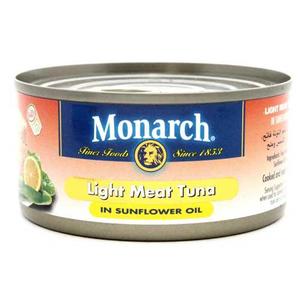 Monarch Light Meat Tuna Sunflower Oil 185gm
