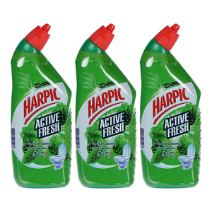 Harpic Toilet Cleaner Liquid Active Fresh Pine 3x750ml