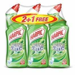 Harpic Toilet Cleaner Liquid Active Fresh Pine 3x750ml