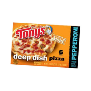 Tonys Deep Dish 6 Cheese Pizza 935g