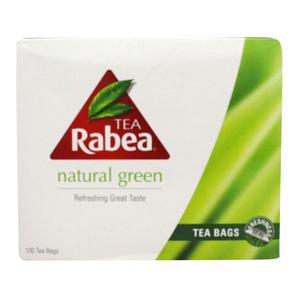 Rabea Tea Natural Green 100 Tea Bags 100s